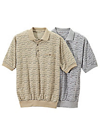 Men's Dot Dash Banded-Bottom Shirt