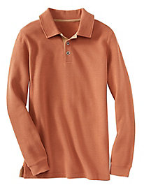 Men's Destination Knits French Rib-Knit Polo Shirt