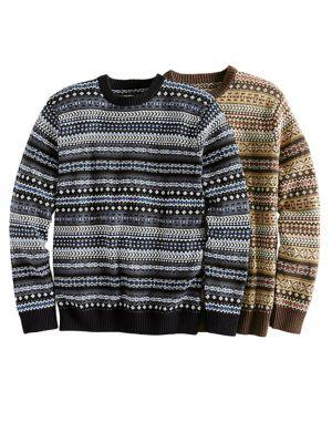 Men's Fair Isle Sweater   Norm Thompson