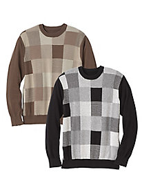 Men's Menswear Squares Sweater