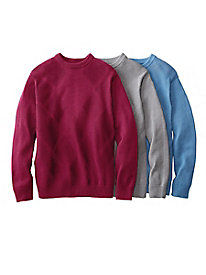 Men's Textured Diamond Sweater