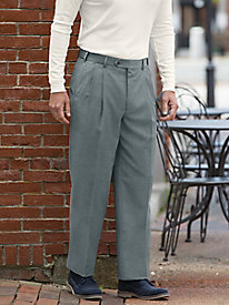 Men's Stretch Wool-Blend Auto-Sizer Pleated Pants