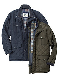 Men's London Fog Quilted 4-Pocket Jacket