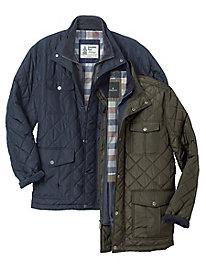 Men's London Fog Quilted 4-Pocket Jacket