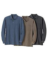 Men's Birdseye Knit Polo...