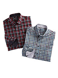 Men's Leo Chevalier Design Wrinkle-Free Sport Shirt