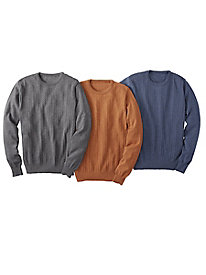 Men's Le Chateau Merino Cable Crew