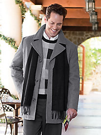 Men's London Fog Wool Coat with Scarf