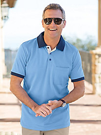 Men's Destination Knits Short-Sleeve Interlock Polo