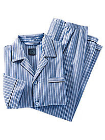 Men's Majestic Blue Striped PJ Set