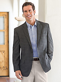 Men's Haggar Check Sport Coat