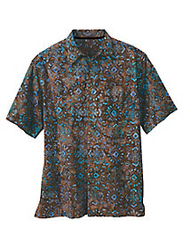 Men's Land & Sea Batik Shirt