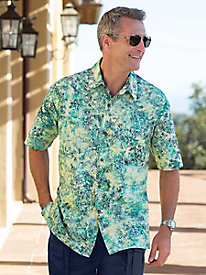 Men's Tahitian Tide Batik Shirt