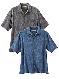 Men's Washable Silk Jacquard Paradise Shirt