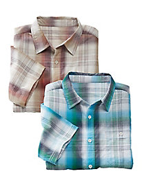 Men's North River Ombre Plaid Shirt