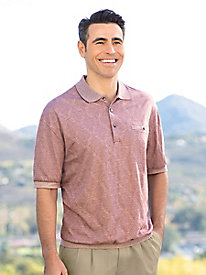 Men's Safe Harbor Diamond Jacquard Polo