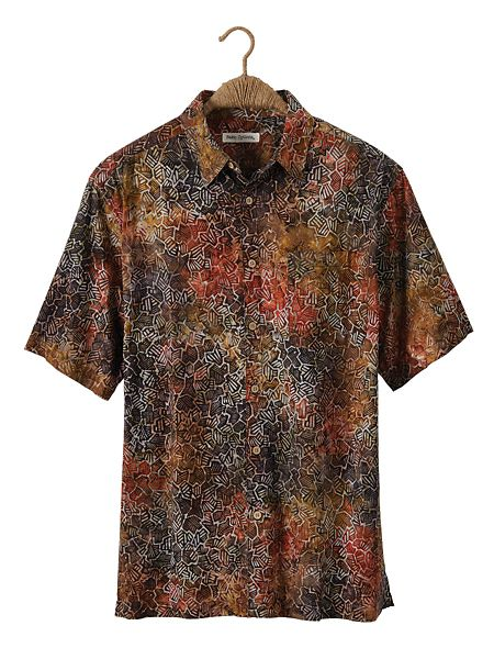 the best attitude a3cdb 87b84 Men's Neutral Abstract Batik Shirt | Norm Thompson