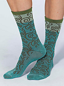 Women's Goodhew Swirl Merino Wool Crew Socks by Norm Thompson