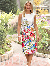 Women's Floral Sheath Dress