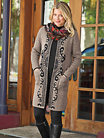 Women's Medallion Sweater Duster