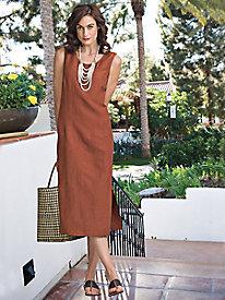 Women's Silk/Linen Dress...