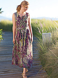 Women's Multi-Print Safari Sundress