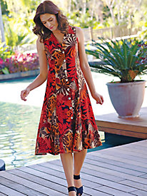 Women's Twirl Girl Print Dress