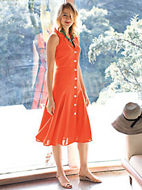 Women's Twirl Girl Casual Linen Dress