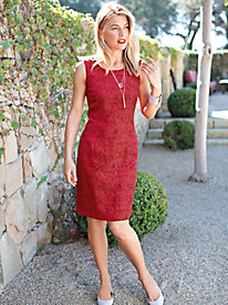 Women's Cut Lace Sheath Dress