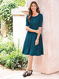 Women's Hello Houndstooth Knit Dress