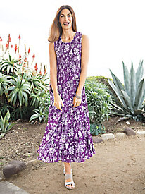 Women's Power to the Purple Smocked Sundress