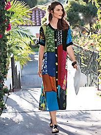 Women's LaCera Patchwork Button-Down Dress