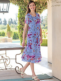 Women's Lavender Floral 2-Piece Dress