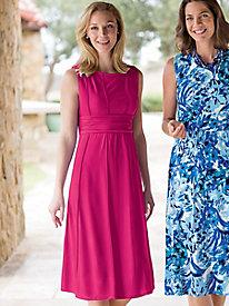 Women's Seamed Knit Dress...