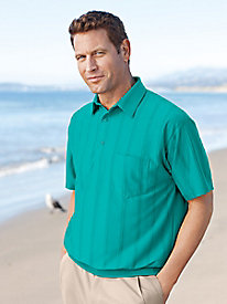 Fulton Street Big And Tall Short Sleeve Rayon Fancy Banded