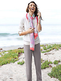 Women's Look of Linen Top & Pants Outfit