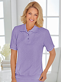 Alfred Dunner Textured Knit Polo Top