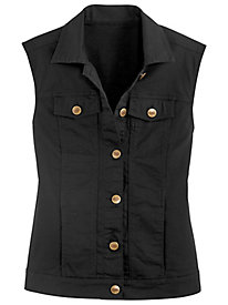 Stretch Jean Vest by Bend Over®