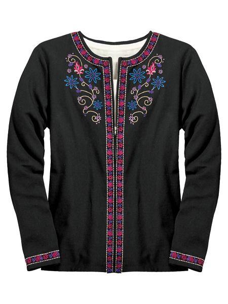 Embroidered jacket by koret old pueblo traders