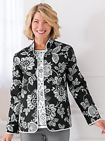 Quilted Floral Jacket By Alfred Dunner®
