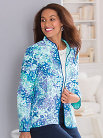 Quilted Print Jacket by Alfred Dunner® by Old Pueblo Traders