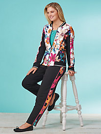 Tropical Twist French Terry Jacket By Ruby Rd.®