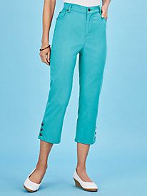 Five-Pocket Stretch Jean Capris
