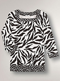 French Rivera Animal Print Top by Alfred Dunner