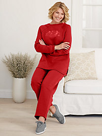 Embroidered Fleece Set