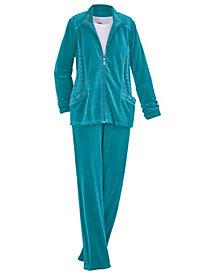Embellished Velour Pants Set