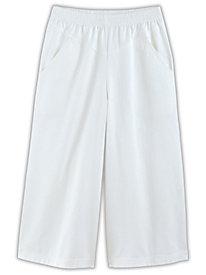V-Yoke Denim or Twill Culottes By Koret®