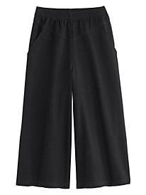 V-Yoke Denim or Twill Culottes By Koret®
