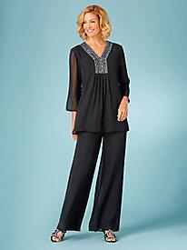 Beaded Tunic Pants Set By Koret®