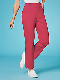 Magic-Waist Twill Pants By Koret®